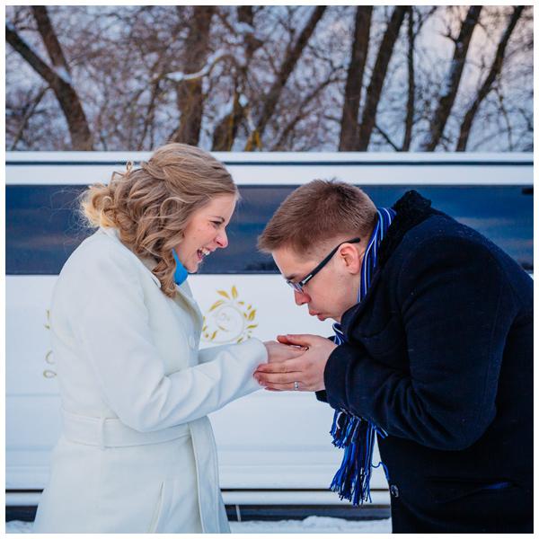 Väga talvine pulmapidu Tallinnas